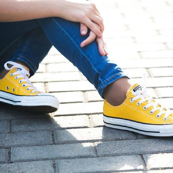 Купить желтые кеды Converse 114 49 в интернет
